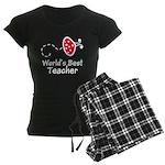 Ladybug Teacher Women's Dark Pajamas