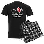 Ladybug Teacher Men's Dark Pajamas