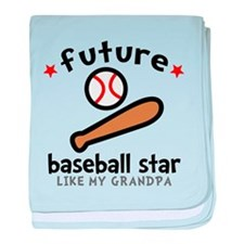 Baseball Grandpa baby blanket