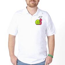 Neon Snail Golf Shirt
