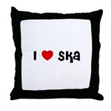 I * Ska Throw Pillow