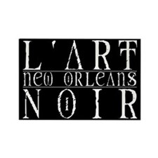 l'art Noir Rectangle Magnet (10 pack)