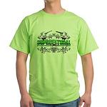 supernatural Line Floral Skul Green T-Shirt