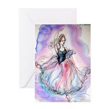Ballerina, colorful, Greeting Card