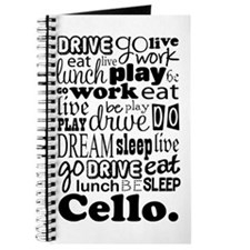 Cello Gift Music Life Journal