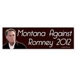 Montana Against Romney bumper sticker