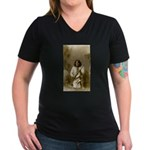 Geronimo (image only) Women's V-Neck Dark T-Shirt