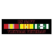 Navy Vietnam Vet 5 Star Bumper Sticker