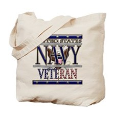 USN Navy Veteran Tote Bag