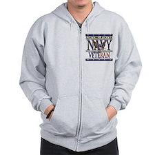 USN Navy Veteran Zip Hoodie