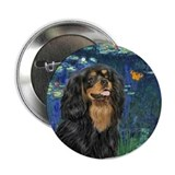 Lilies #5-Cavalier (Blk-tan) 2.25&quot; Button