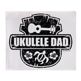 Ukulele Dad Throw Blanket