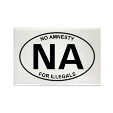 No Amnesty Oval Design Rectangle Magnet (10 pack)