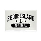 Rhode Island Girl Rectangle Magnet