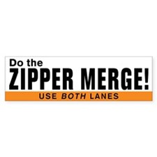 Unique Zipper Bumper Sticker
