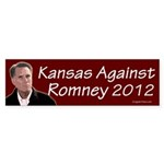 Kansas Against Romney bumper sticker