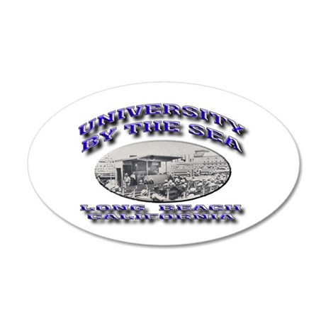 University by the Sea 22x14 Oval Wall Peel