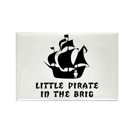 Little Pirate in the Brig Rectangle Magnet