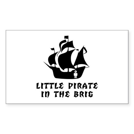 Little Pirate in the Brig Rectangle Sticker