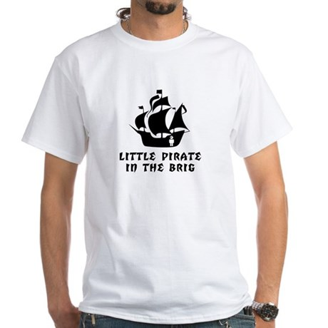 Little Pirate in the Brig White T-Shirt