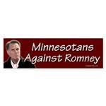 Minnesotans Against Romney bumper sticker
