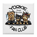 Yorkie Lover Tile Coaster