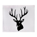 Cute Antlers Throw Blanket