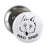 "wolf wild spirit 2.25"" Button"