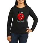 I Love Redheads Dark Women's Long Sleeve Dark T-Sh