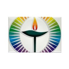 UU Rainbow Logo Rectangle Magnet (100 pack)