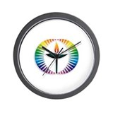 UU Rainbow Logo Wall Clock
