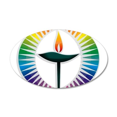 UU Rainbow Logo 38.5 x 24.5 Oval Wall Peel