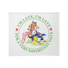 I'M LATE, I'M LATE Throw Blanket