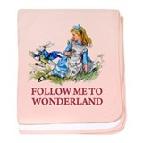 FOLLOW ME TO WONDERLAND baby blanket