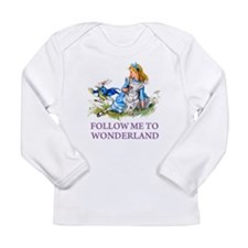 FOLLOW ME TO WONDERLAND Long Sleeve Infant T-Shirt