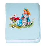 ALICE &amp; THE RABBIT baby blanket