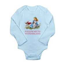 FOLLOW ME TO WONDERLAND Long Sleeve Infant Bodysui