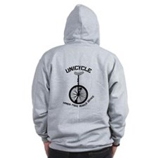 Unicycle Mobile Device Zip Hoodie