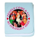 PEOPLE COME & GO - RED baby blanket