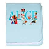 ALICE IN WONDERLAND &amp;amp; FRIENDS baby blanket