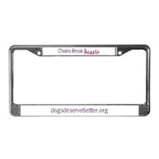 Chains Break Hearts License Plate Frame