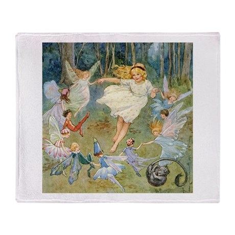 DANCING IN THE FAIRY RING Throw Blanket