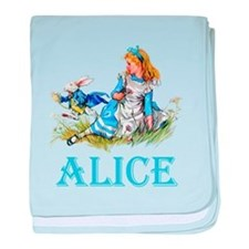 ALICE IN WONDERLAND - BLUE baby blanket