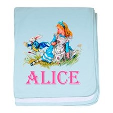 ALICE IN WONDERLAND - PINK baby blanket