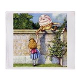 ALICE &amp; HUMPTY DUMPTY Throw Blanket