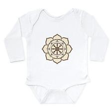 Dharma Wheel with Lotus Flowe Long Sleeve Infant B