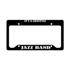 Jazz Band Lifestyle License Plate Holder Gift