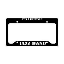 Jazz Band Lifestyle License Plate Holder Gift