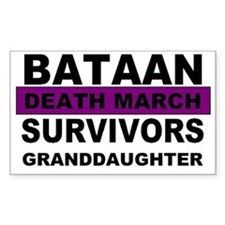 Bataan Death March Survivors Granddaughter Decal