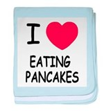 i heart eating pancakes baby blanket